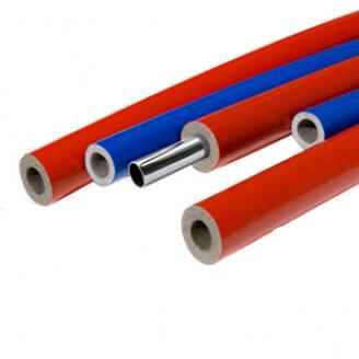 Теплоизоляция для труб из вспененого полиэтилена Thermaflex S красная и синяя 6 мм ДУ 28 мм 2 м