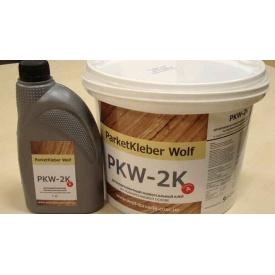 Клей паркетный Parketkleber Wolf двухкомпонентный на полиуретановой основе 1 кг 9 кг
