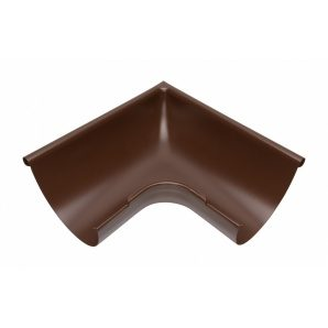 Зовнішній кут жолоба Акведук Преміум 90 градусів 150 мм коричневий RAL 8017