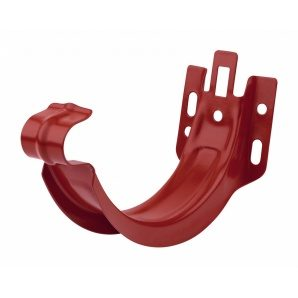 Тримач жолоба Акведук Преміум до лобової дошки 125 мм темно-червоний RAL 3009