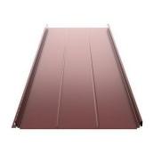 Фальцевая кровля Ruukki Classic D Silence Pural matt 505 мм красный