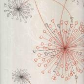 Панель ПВХ Стимекс LineFix Одуванчики розовые с термопереводом 250x6000х8 мм