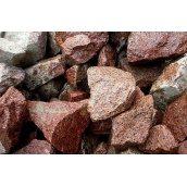 Бутовый камень 150-450 мм серо-розовый