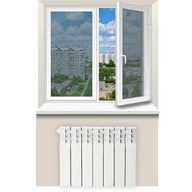 Отделка откосов из пластика стандартного окна с одной строны