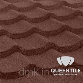 Композитная черепица QueenTile Standard 3-тайловый Brown