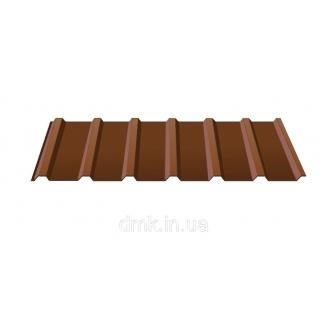 Профнастил покрівельний С-18 0,45 PE коричневий (RAL 8017)