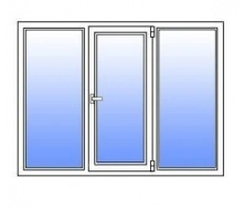 Металлопластиковое окно Стимекс WDS 400 1750х1300 мм