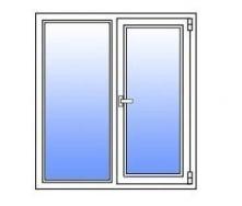 Металлопластиковое окно Стимекс Кommerling 70GT стандарт 1200х1500 мм