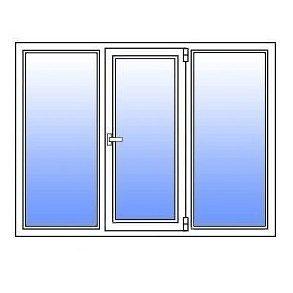 Металлопластиковое окно Стимекс Кommerling 88+ 1750х1300 мм