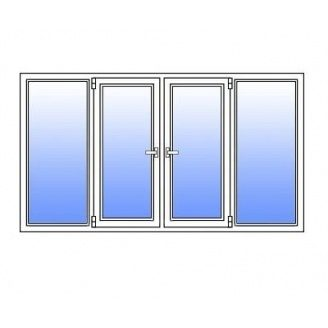 Металопластикове вікно Стімекс Кommerling 88+ 3100х1300 мм
