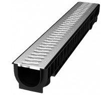 Лоток пластиковый 100 129 мм с решеткой пластиковой стальной