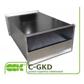 Прямоугольный шумоглушитель канальный C-GKD-50-25