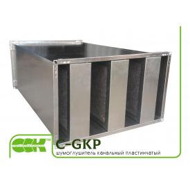 Шумоглушитель пластинчатый для прямоугольной канальной вентиляции C-GKP-80-50