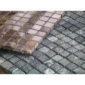 Укладка мраморной мозаики