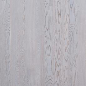 Паркетная доска Focus Floor Дуб PRESTIGE ETESIAN WHITE снежно-белий матовий лак 2000х138х14 мм