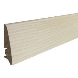 Плінтус дерев'яний Barlinek P30 Ясен білий матовий лак 78х18х2200 мм