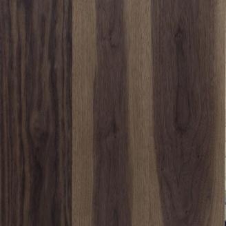 Паркетна дошка Serifoglu односмугова Американський Горіх Люкс+Стандарт T&G 582х97х10 мм лак