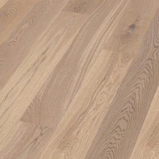 Паркетная доска BOEN Plank однополосная Дуб Animoso небрашированная 2200х209х14 мм отбеленная масло