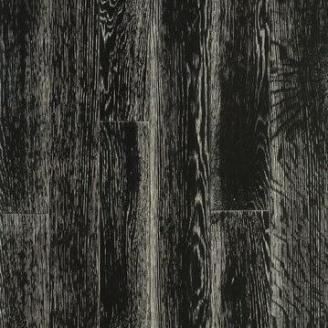 Паркетная доска DeGross Дуб черный с белым, браш лак 1200х100х15 мм