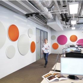 Акустическое дизайнерское панно Rockwool Rockfon Wall Panel КРУГ 1160х40 мм