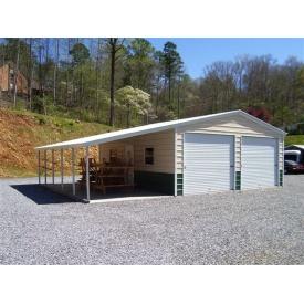 Будівництво покращеного гаража на два автомобілі з навісом 7х12 м