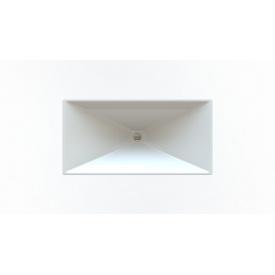 Стільниця індивідуальна у ванну кімнату суцільнолита з чашею Вега 780х380 мм 120 мм