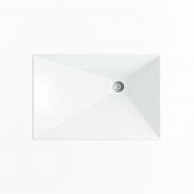Стільниця індивідуальна у ванну кімнату суцільнолита з чашею Капела L 575х390 мм 110 мм