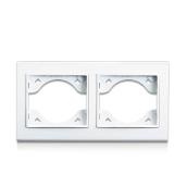 Рамка подвійна для розеток і вимикачів ERSTE THEME 9209-82 біла