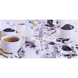 Листовая панель ПВХ Регул мозаика Чайная церемония 0,3 мм 955x488 мм