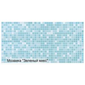 Листова панель ПВХ Регул мозаїка Зелений мікс 0,3 мм 955x488 мм