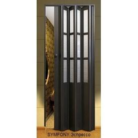 Дверь-гармошка пластиковая SYMFONY эспрессо 2,03x0,86 м