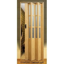 Двері-гармошка пластикова SYMFONY світлий дуб 2,03x0,86 м