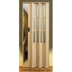 Двері-гармошка пластикова SYMFONY мускатний горіх 2,03x0,86 м
