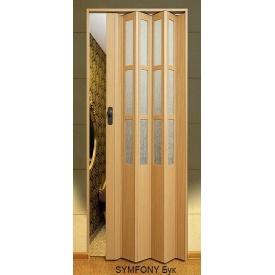 Двері-гармошка пластикова SYMFONY бук 2,03x0,86 м
