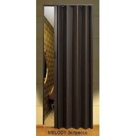 Двері-гармошка пластикова MELODY еспресо 2030х820 мм