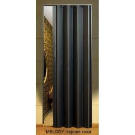 Дверь-гармошка пластиковая MELODY черная кожа 2030х820 мм