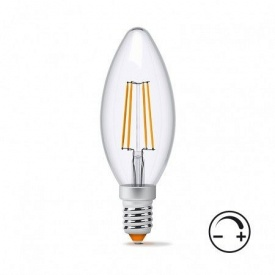 Диммируемая LED лампа VIDEX Filament C37FD 4W E14 4100K 220V
