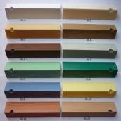 Кут пластиковий ПВХ однотонний Mak Польща 2.7 м 15x15