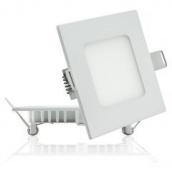 Світильник світлодіодний UKRLED вбудовуваний 3W 290Lm 4200К алюміній квадратний (428)