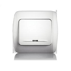 Выключатель одноклавишный с подсветкой ERSTE CLASSIC 9201-01N белый