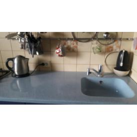 Стільниця індивідуальна на кухню суцільнолита з мийкою номер 2 410x360x155 мм з литого каменю