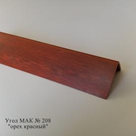 Угол пластиковый ПВХ текстура под дерево Mak Польща 2,7 м 208 25x25