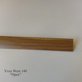 Кут оздоблювальний пластиковий WEST текстура під дерево 2.7 м 20x20 140