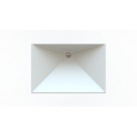 Стільниця індивідуальна у ванну кімнату суцільнолита з чашею Антарес 395х575х100 мм