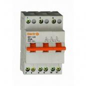 Дифференциальный автоматический выключатель ElectrO АД2-63 3 полюсы+N 25А 30мА 4,5kA (45AD63325E30)