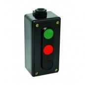 Пост кнопковий ElectrO ПК722-3 10A 230/400B карболит з червоною, чорною і зеленою кнопками (PK7223RBG44)