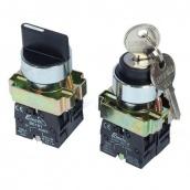 Кнопка ElectrO ВG33 3-х позиційний перемикач з ключем 29 мільйонами доларів NO + NC (BG33NONCK)