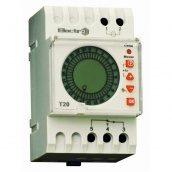Добовий Таймер ElectrO Т20 цифровий 16А 230В з акуммулятором на DIN-рейку (Т20ЕА)