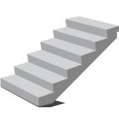 Лестничный марш 1ЛМ 30.12-15-4 П 2700х1435х1200 мм