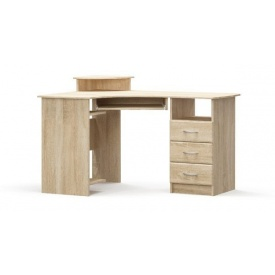 Стол угловой МДФ Мебель-Сервис 130х75х90 см дуб санома